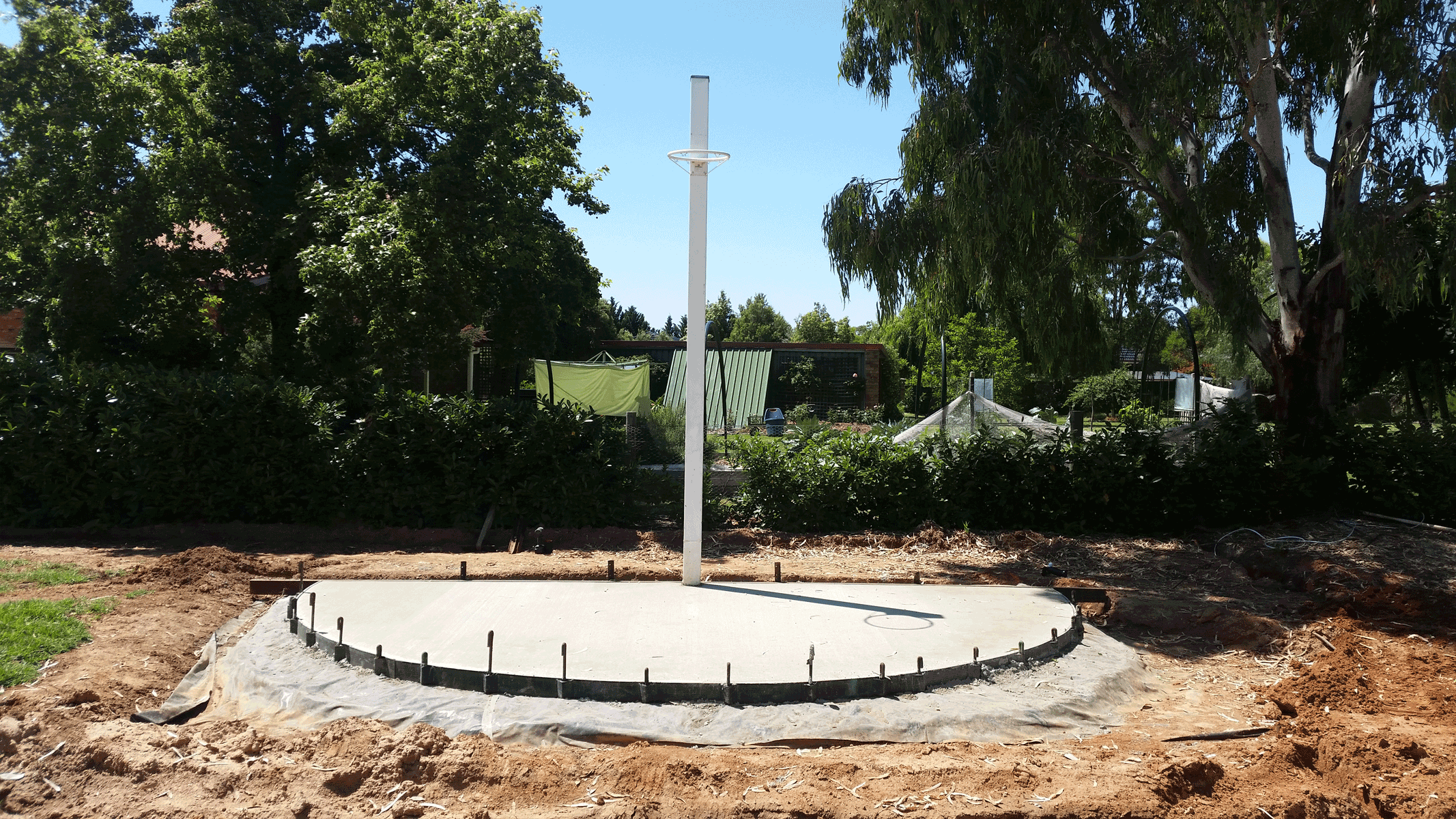 Custom Crete - Concrete Placement - Netball Circle After