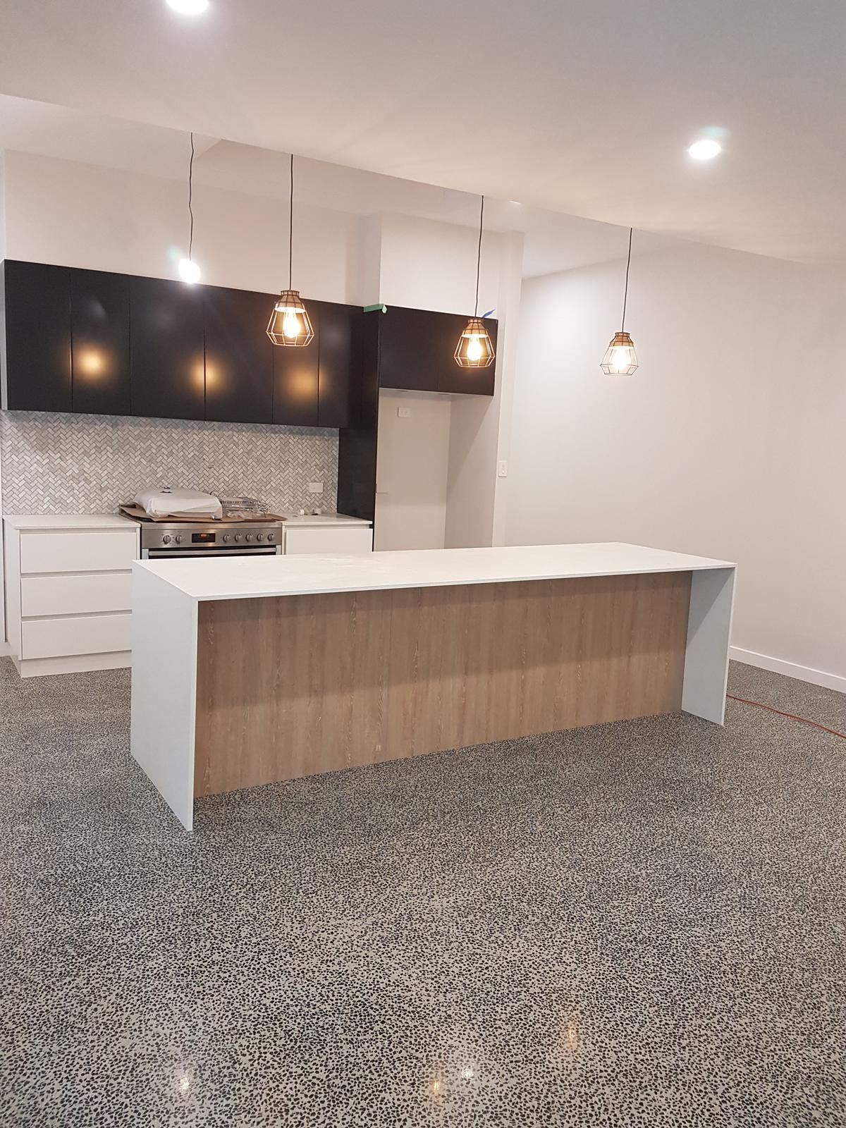 Custom Crete Polished Concrete - Kitchen Living